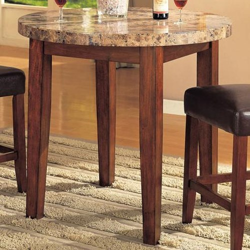 Acme Furniture Bologna Counter Height Table with Marble Top