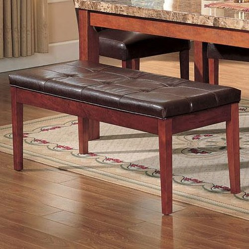 Acme Furniture Bologna Faux Leather Upholstered Bench
