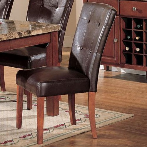 Acme Furniture Bologna Faux Leather Dining Side Chair