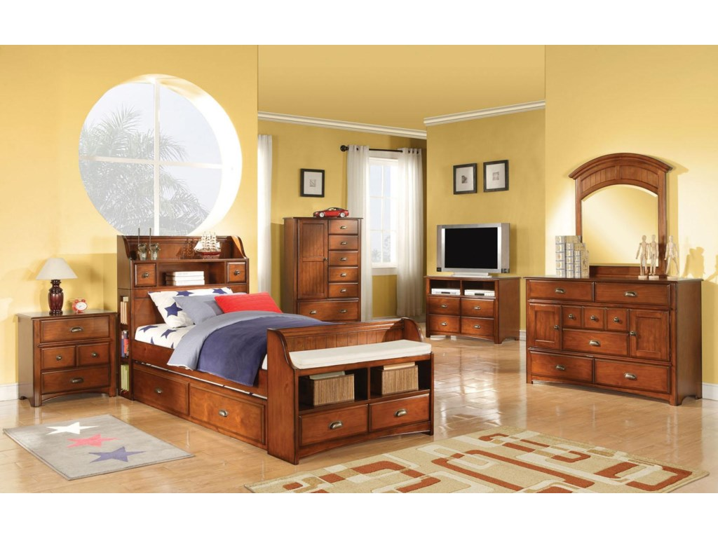 Shown with Bed, Chest, TV Console, Dresser, and Mirror