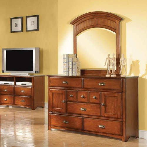 Acme Furniture Brandon Dresser and Mirror Combo