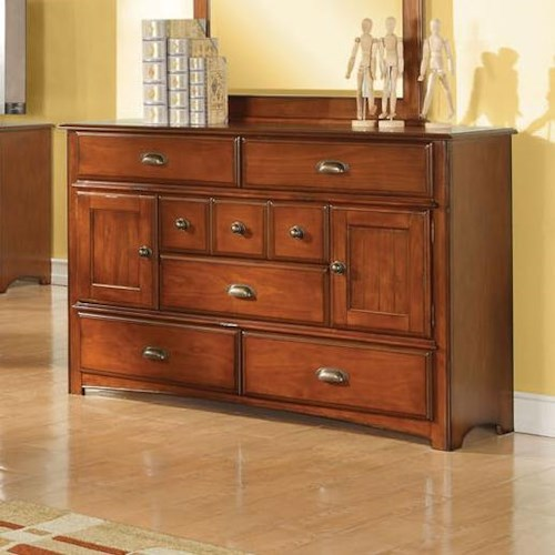 Acme Furniture Brandon Traditional Dresser with Ten Storage Compartments