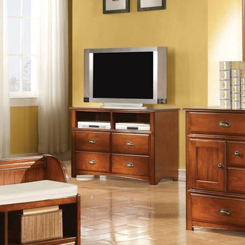 Acme Furniture Brandon Traditional Four-Drawer TV Console