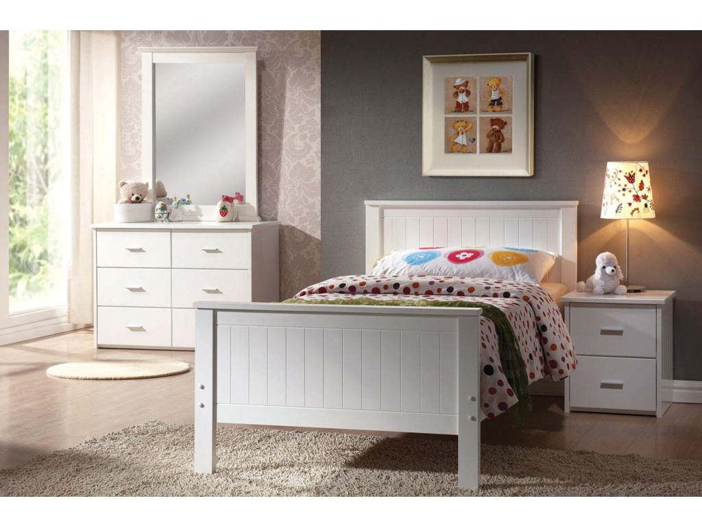 Shown with Mirror, Bed, and Nightstand