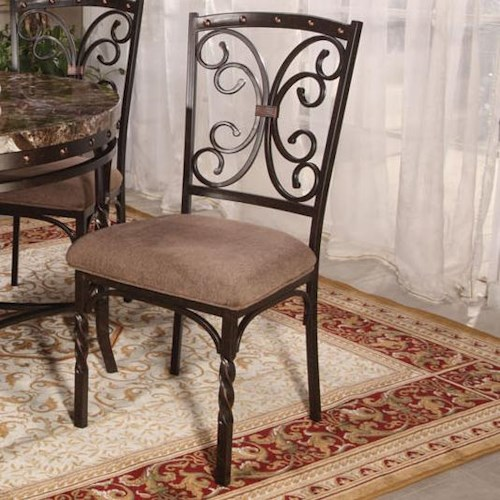 Acme Furniture Burril Side Chair with Decorative Back