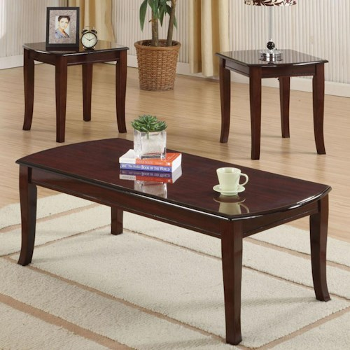 Acme Furniture Camarillo 3-Piece Coffee and End Tables