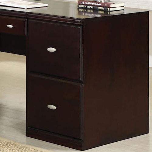 Acme Furniture Cape Espresso File Cabinet w/ 2 Drawers