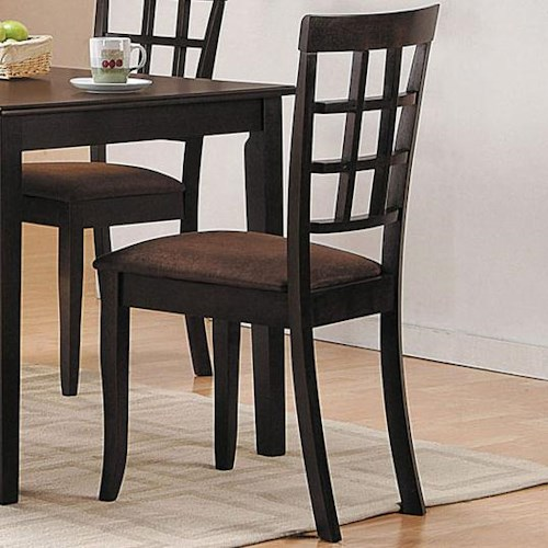 Acme Furniture Cardiff Espresso Side Chair w/ Upholstered Seat
