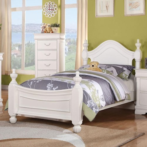 Acme Furniture Classique Traditional Full Bed with Urn Finials