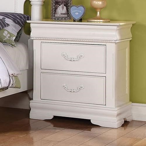 Acme Furniture Classique Traditional Nightstand with Hidden Drawer