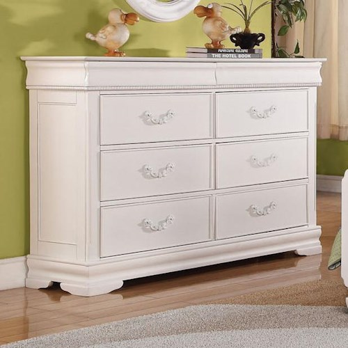 Acme Furniture Classique Traditional Youth Double Dresser