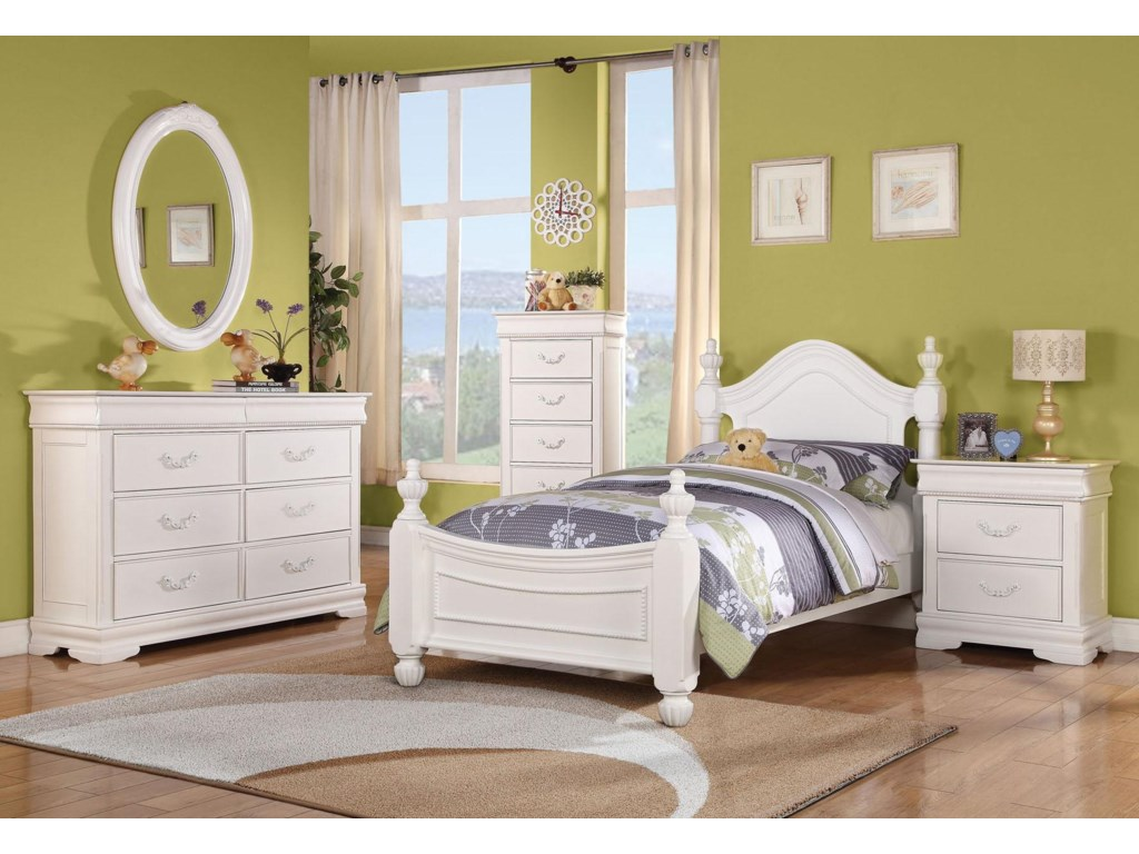 Shown with Oval Mirror, Chest of Drawers, Bed, and Nightstand
