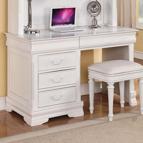 Acme Furniture Classique Traditional Youth Three-Drawer Computer Desk