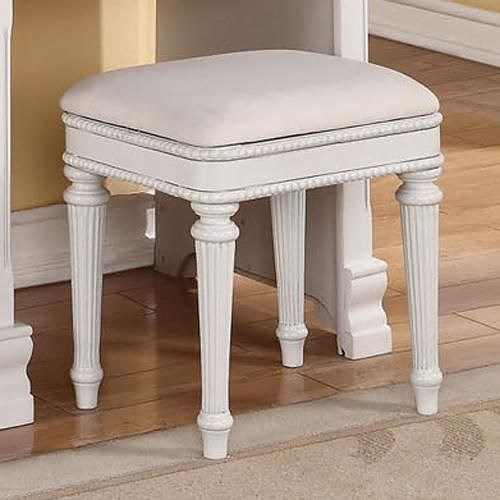 Acme Furniture Classique Traditional Upholstered Bench with Nailhead Studs