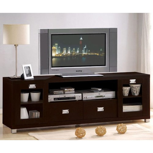Acme Furniture Commerce Entertainment Console with 2 Drawers