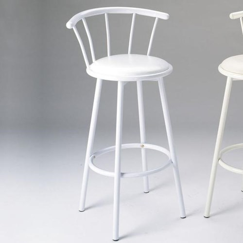 Acme Furniture Cucina White Swivel Bar Stool