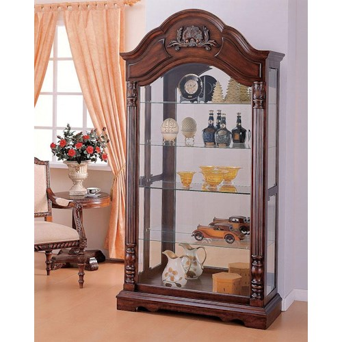 Acme Furniture Deton Cherry Curio Cabinet