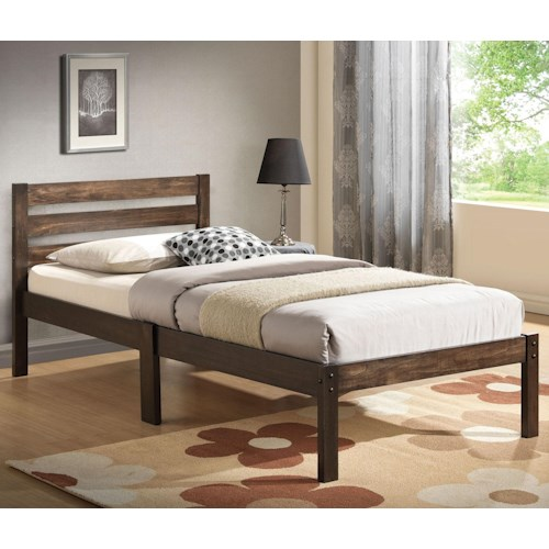 Acme Furniture Donato Casual Twin Bed with Slat Heaboard