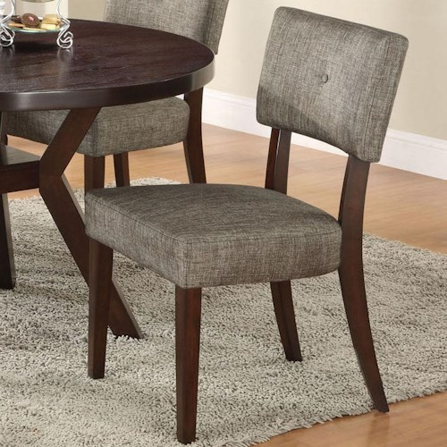 Acme Furniture Drake Espresso Modern Dining Side Chair with Upholstered Panel Backrest