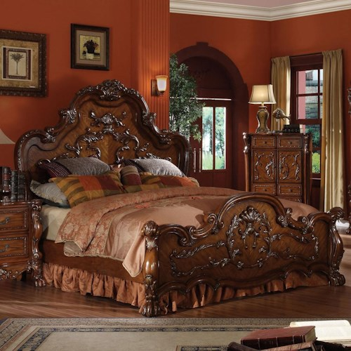 Acme Furniture Dresden King Carved Bed
