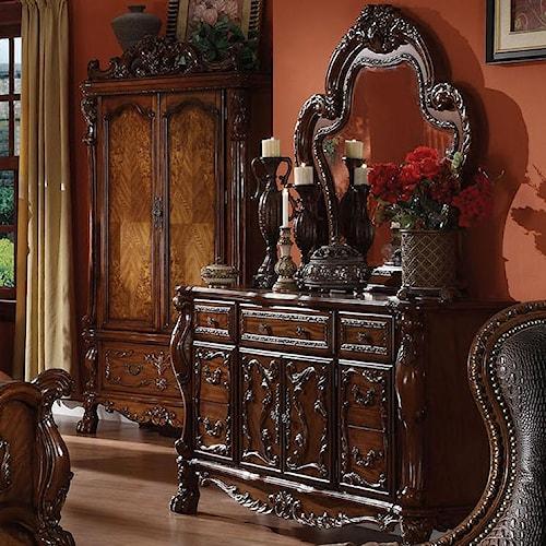 Acme Furniture Dresden Drawer Dresser w/ Mirror