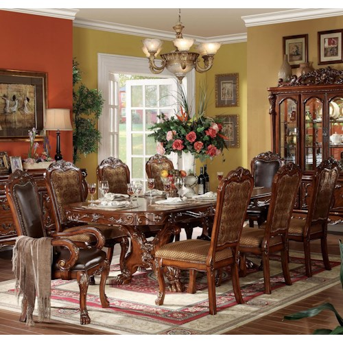 Acme Furniture Dresden 9 Piece Dining Table and Chair Set