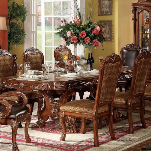 Acme Furniture Dresden Oval Dining Table w/ Extension Leaves