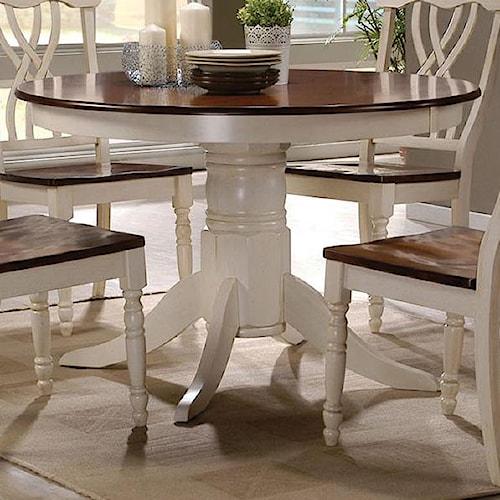 Acme Furniture Dylan Cottage Pedestal Dining Table