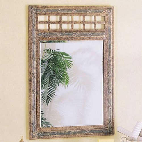 Acme Furniture Egyptian Framed Wall Mirror with Lattice