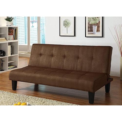 Acme Furniture Emmet Choc Chocolate Adjustable Sofa