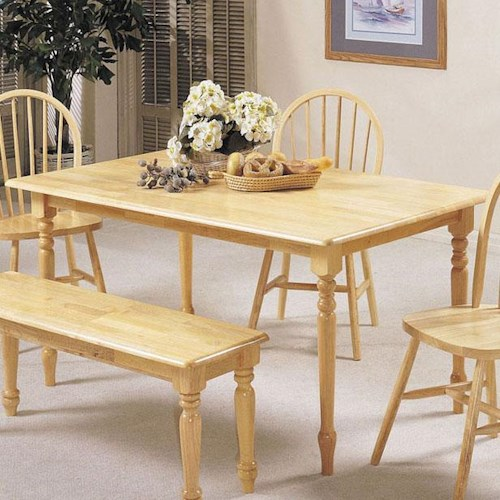 Acme Furniture Farmhouse Rectangular Leg Dining Table