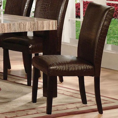 Acme Furniture Fraser Upholstered Side Chair with Textured Seat