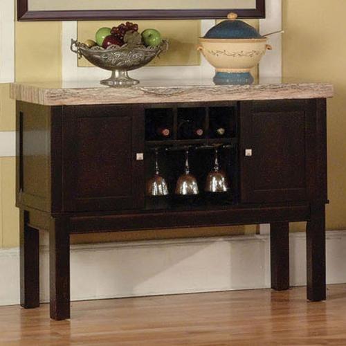 Acme Furniture Fraser 2 Door Server with Wine Rack