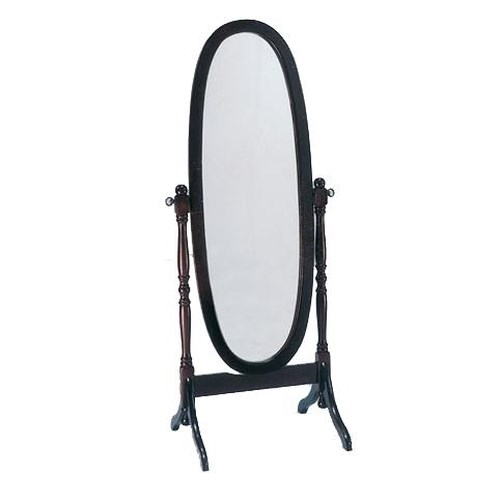 Acme Furniture Fynn Oval Cheval Mirror on Hinges