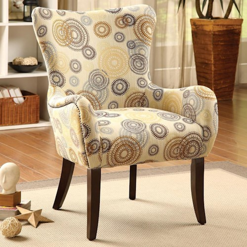 Acme Furniture Gabir Accent Chair with Flare Tapered Arms