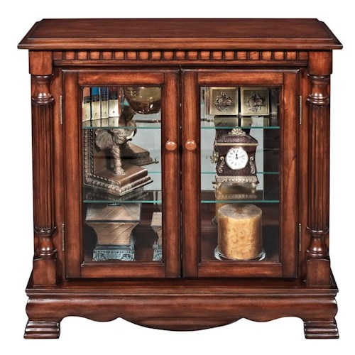 Acme Furniture Gilby 2 Door Curio Cabinet with Pilasters