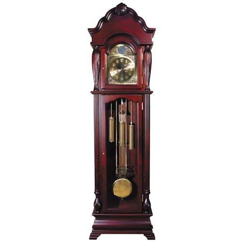 Acme Furniture Grandfather Clocks Cherry Bass Wood Grandfather Clock