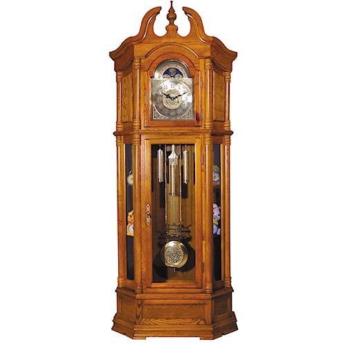 Acme Furniture Grandfather Clocks Oak Finish Grandfather Clock