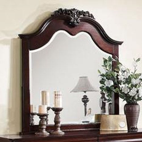 Acme Furniture Gwyneth Mirror with Decorative Crown Carving