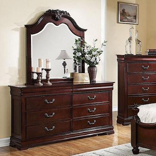 Acme Furniture Gwyneth 8 Drawer Dresser with Mirror