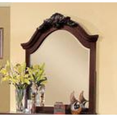 Acme Furniture Gwyneth Mirror with Decorative Carving