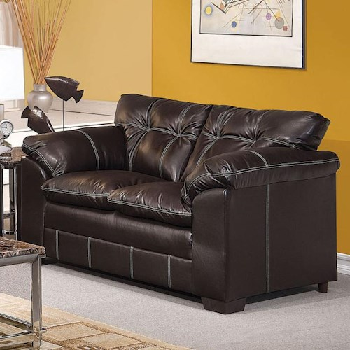 Acme Furniture Hayley Casual Loveseat with Pillow Arms