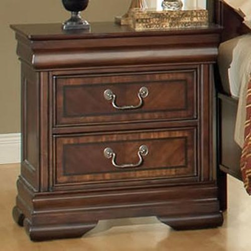 Acme Furniture Hennessy Traditional Nightstand with Two Drawers