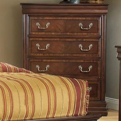 Acme Furniture Hennessy Traditional Chest of Four Drawers with Bracket Feet