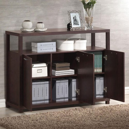 Acme Furniture Hill 3 Door Cabinet with 4 Shelves