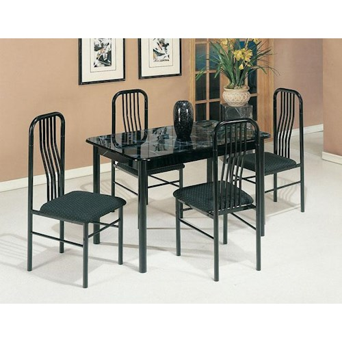Acme Furniture Hudson Contemporary 5-Piece Casual Dinette Set