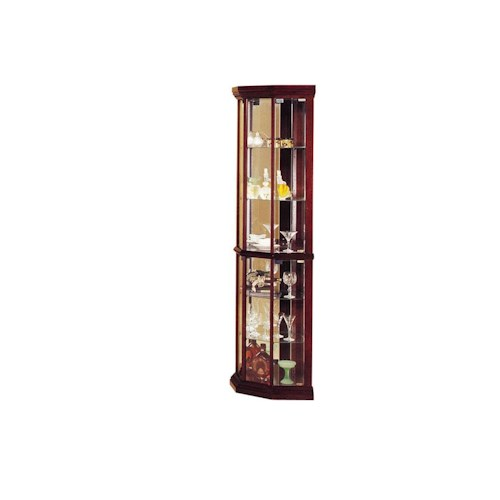 Acme Furniture Martha Glass Corner Curio Cabinet