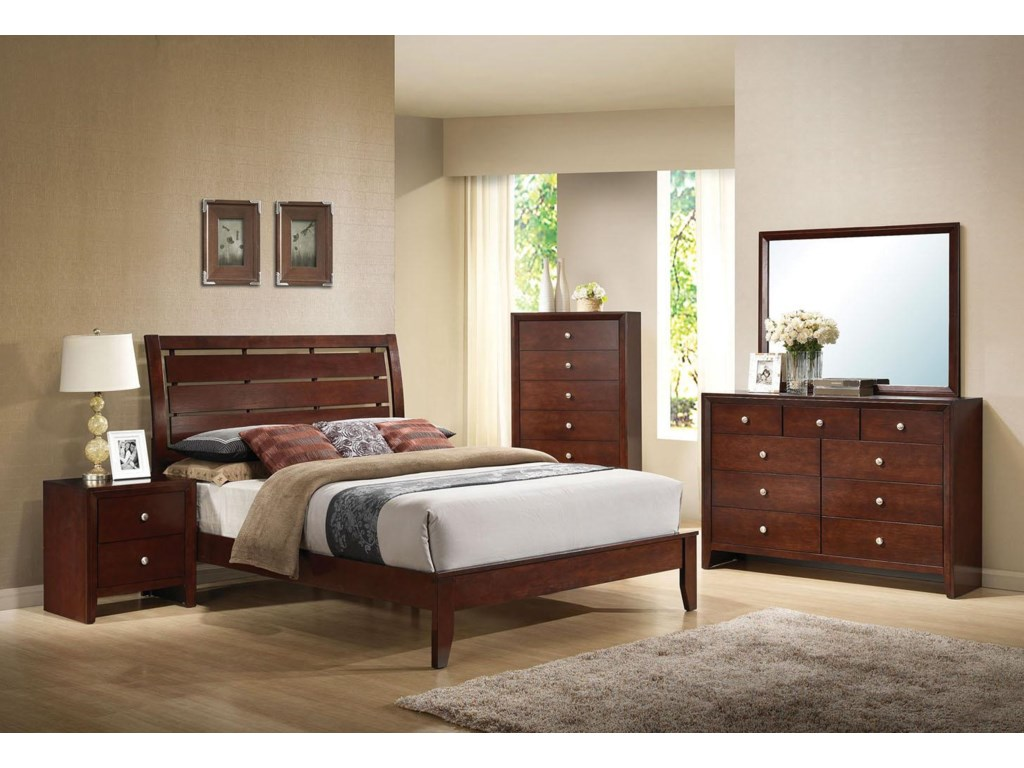 Shown with Nightstand, Bed, and Dresser with Mirror