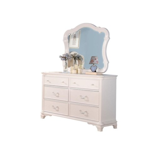 Acme Furniture Ira Traditional Youth Dresser and Mirror Combo