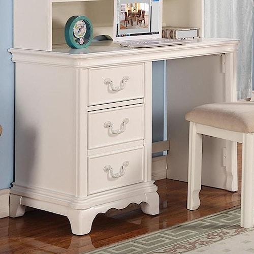 Acme Furniture Ira Three-Drawer Single Pedestal Youth Desk